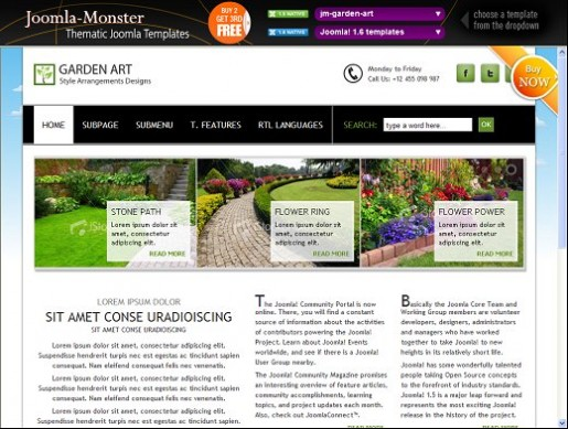 JM Garden Art Photography Joomla Template