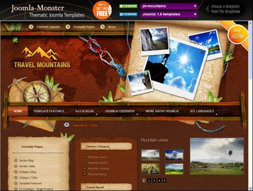 JM Mountains Joomla Travel Template