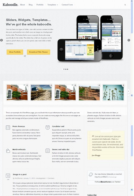 WooThemes Kaboodle WordPress Theme