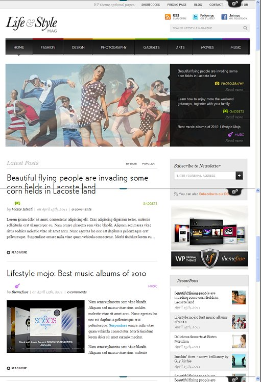 ThemeFuse Lifestyle WordPress theme