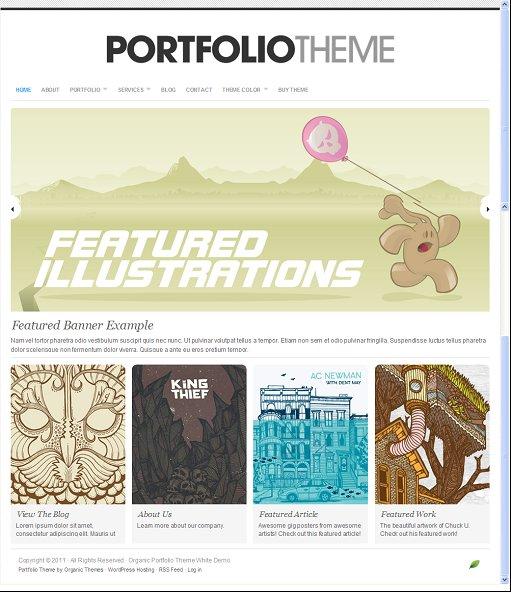 Organic Portfolio White WordPress Theme