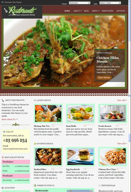 Gabfire Themes Restorante WordPress Restaurant Theme