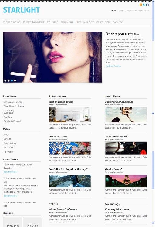 Starlight WordPress Theme