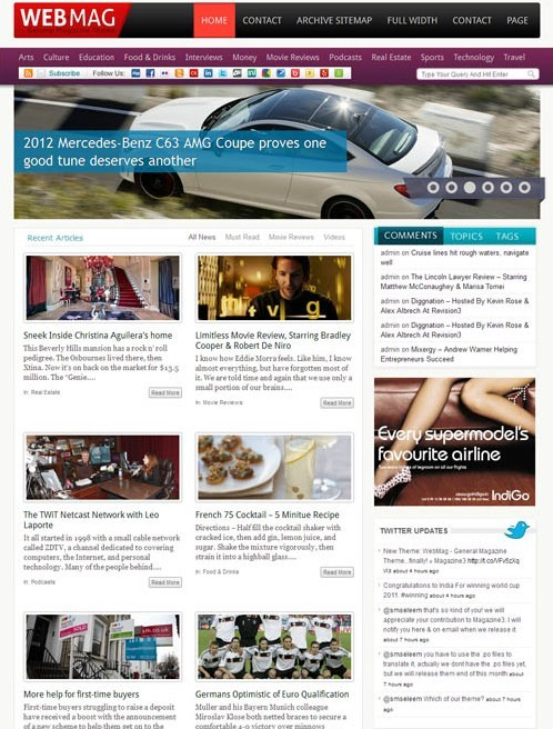Magazine3 WebMag Multipurpose WordPress Magazine Theme