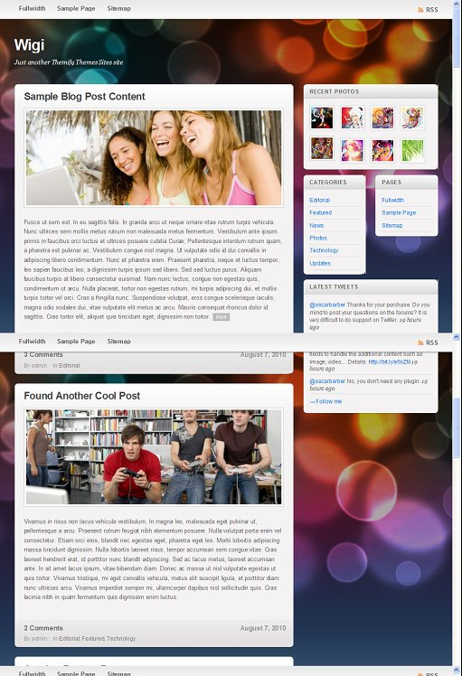 Themify Wigi WordPress Theme