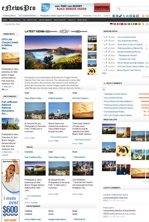 SharkThemes eNewsPro WordPress Theme