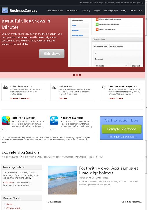 Chimera Themes BusinessCanvas WordPress Theme