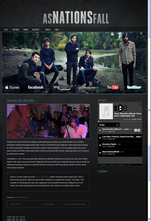 Foxhound Dark & Gritty WordPress Band Theme