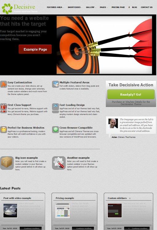 Decisive Business WordPress Theme