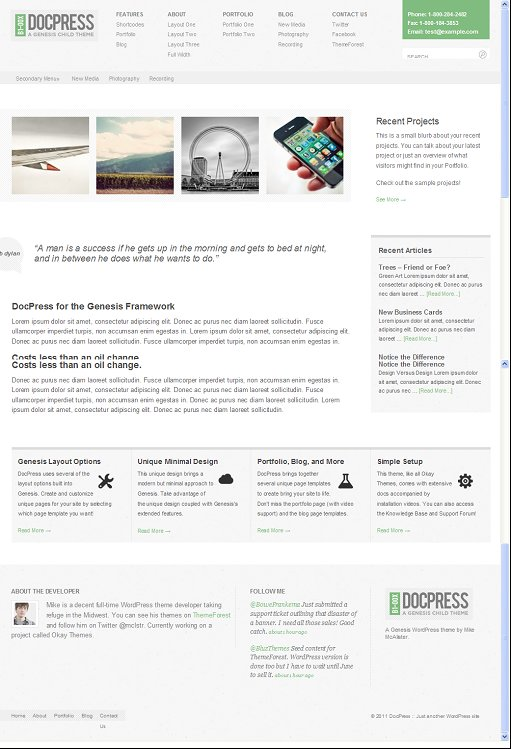 DocPress Genesis WP Child Theme