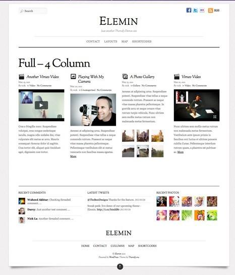 Themify Elemin WordPress Tumblr-Like Theme