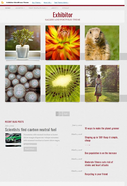 Pro Theme Design Exhibitor WordPress Portfolio and Gallery Theme