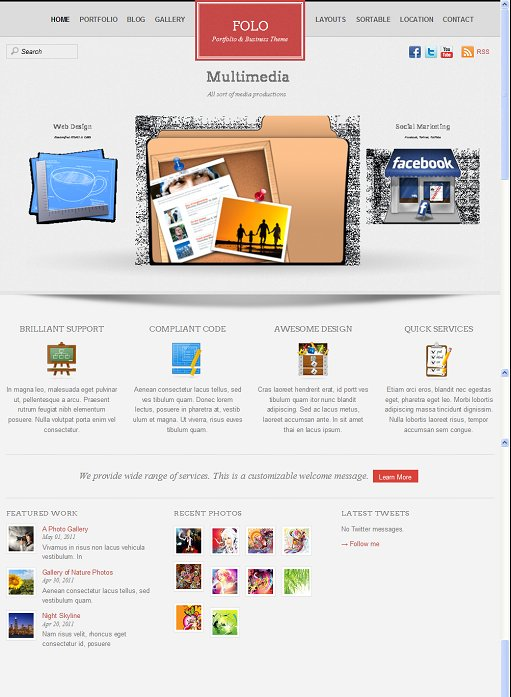 Themify Folo WordPress Portfolio Theme For Businesses