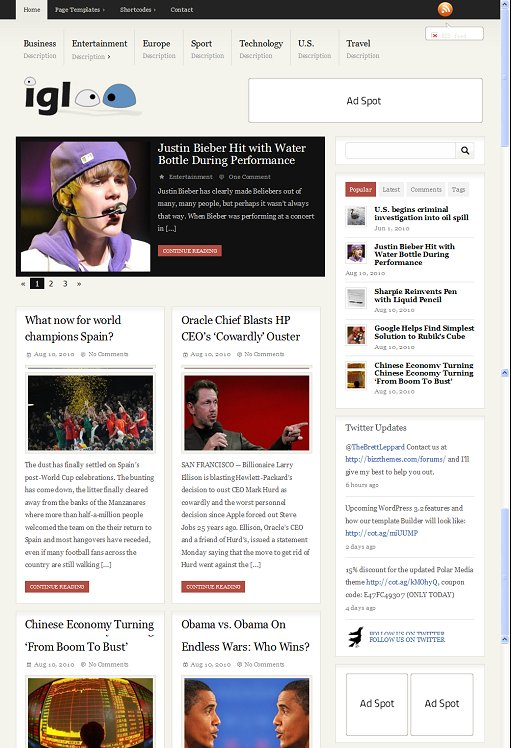 BizzThemes Igloo WordPress Theme