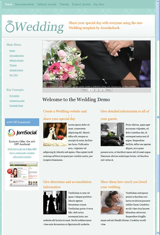 JoomlaShack JS Wedding Joomla Template