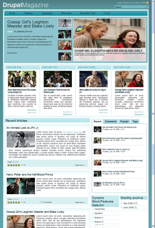 ThemeSnap Magazine Plus Drupal Theme