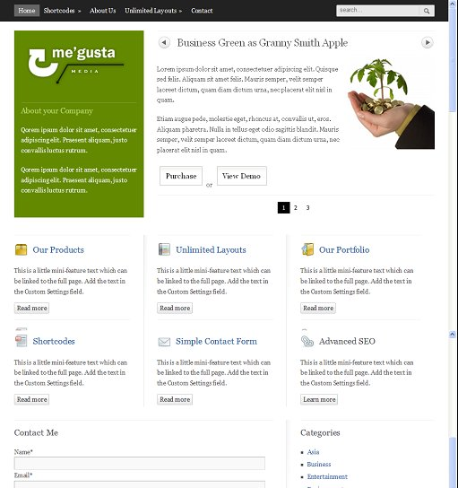 BizzThemes Me'gusta WordPress Theme