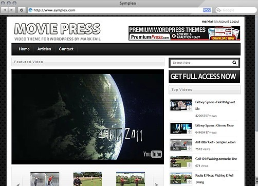MoviePress Coupon Code for MoviePress Video Theme