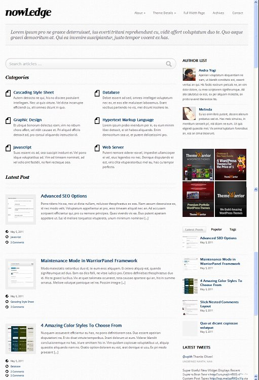 ThemeWarrior NowLedge WordPress Theme