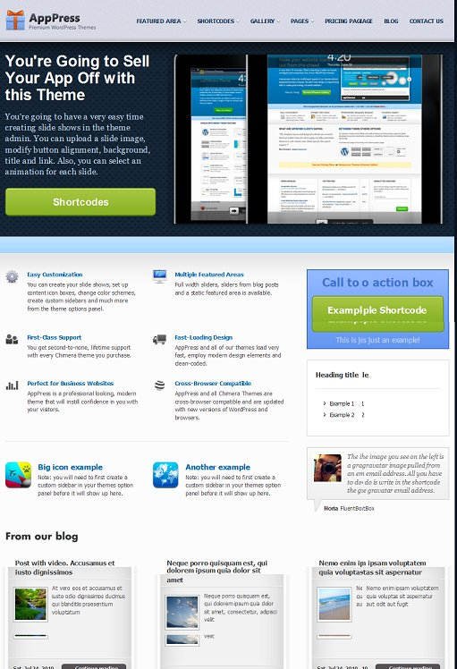 Chimera Theme AppPress WordPress Mobile App Theme