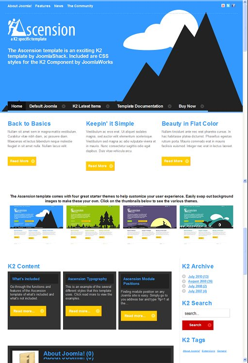 JoomlaShack Ascension Joomla Template