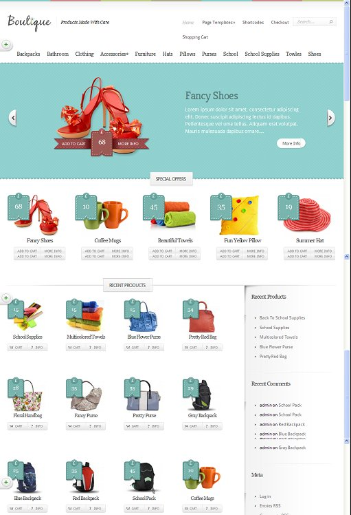 Elegant Themes Boutique WordPress eCommerce Theme