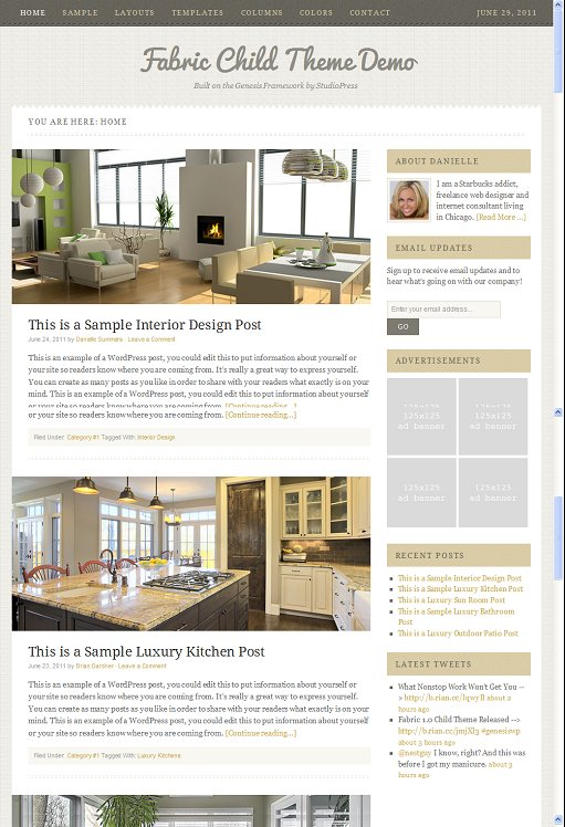 StudioPress Fabric WordPress Home Decor Theme