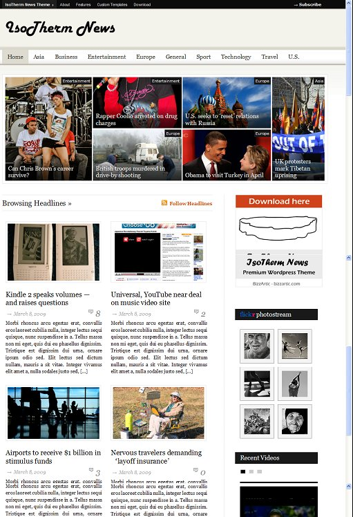 BizzThemes IsoTherm News Magazine WordPress Theme