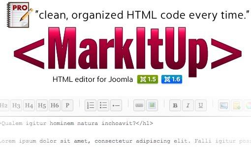 MarkItUp HTML Editor for Joomla
