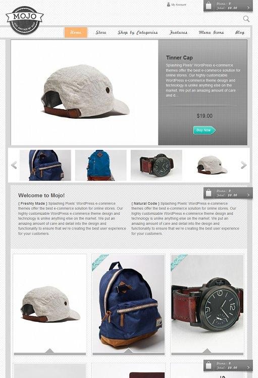 Splashing Pixels Mojo WordPress E-commerce Theme