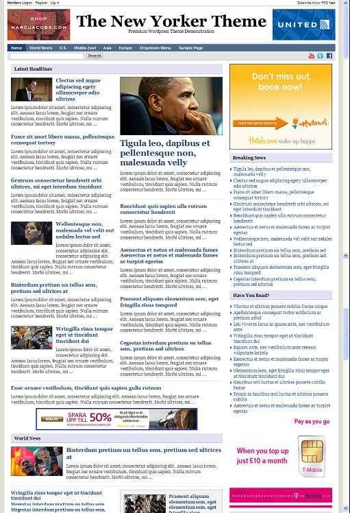 PressJunkie New Yorker 3 wordpress theme