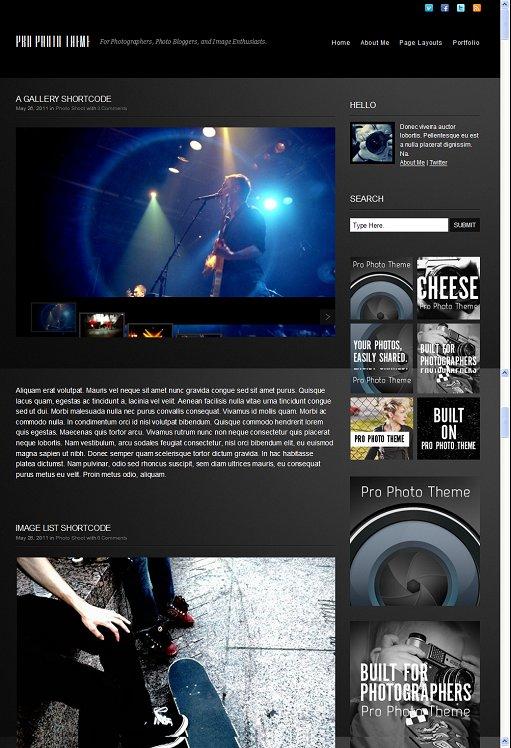 8Bit Pro Photo Theme For WordPress Photo Blogging