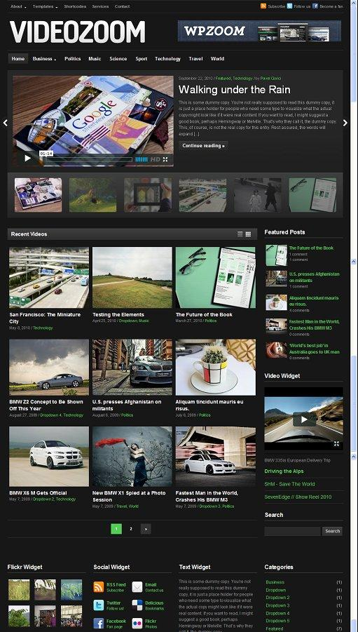 WPZoom VideoZoom 2.0 WordPress Theme