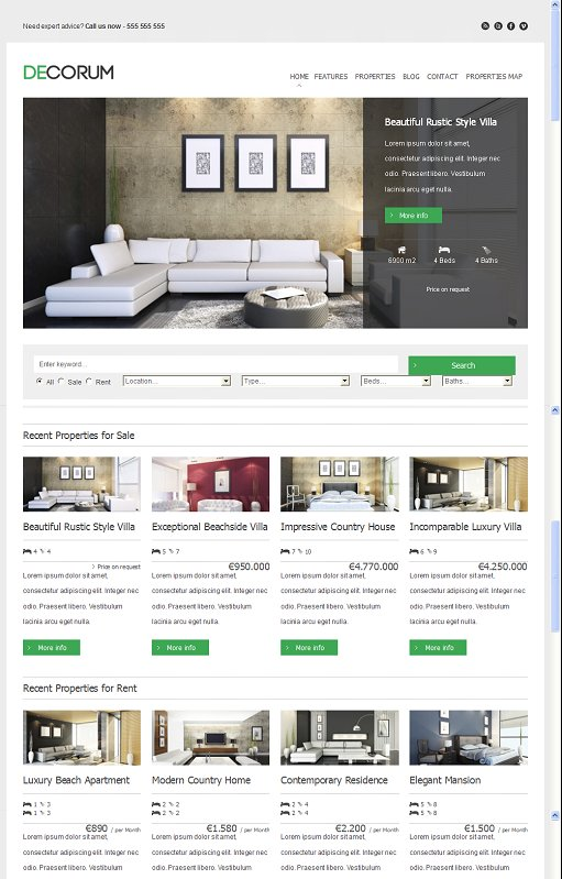 ThemeShift deCorum WordPress Real Estate Theme