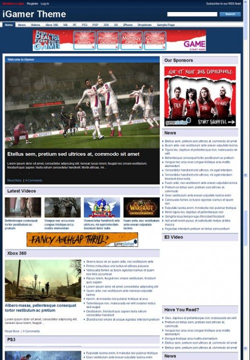 PressJunkie iGamer wordpress theme