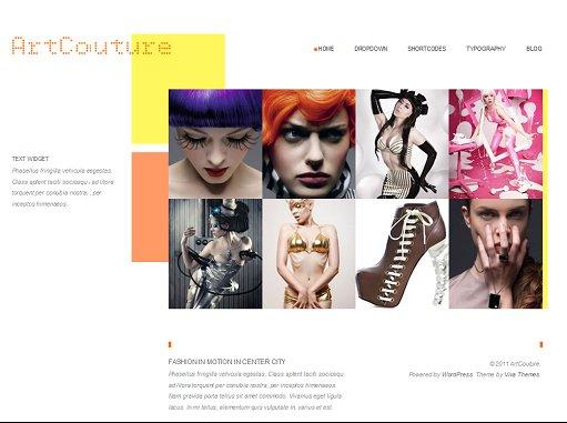 Viva Themes ArtCouture WordPress Minimalist Portfolio Theme