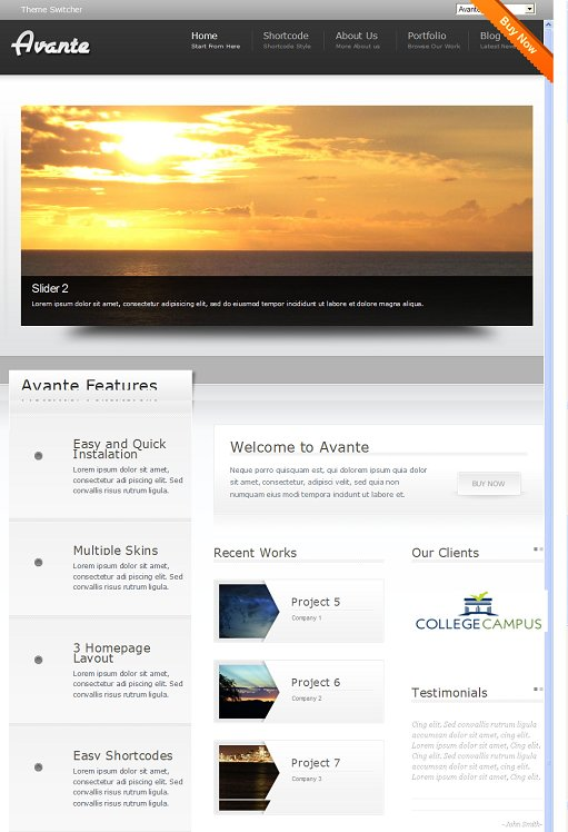 Aloha Themes Avante Corporate Theme For WordPress