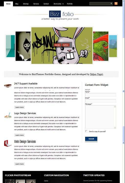 BizzThemes BizzFolio WordPress Theme