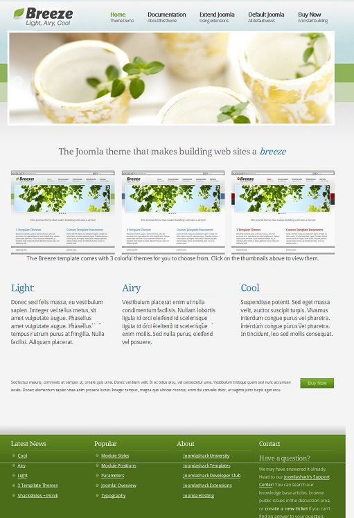 JoomlaShack Breeze Joomla Template