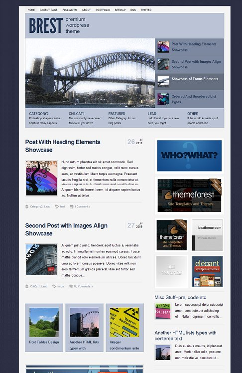 BeaTheme Brest Lite WordPress Magazine Theme
