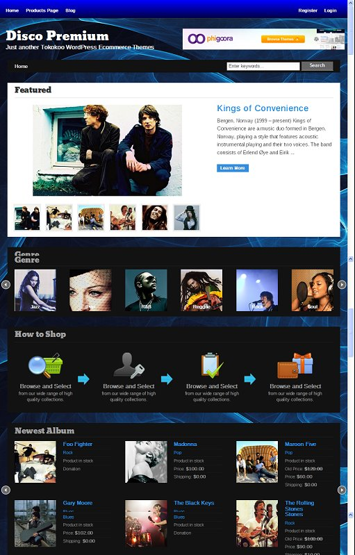 Tokokoo Disco Music WordPress Theme