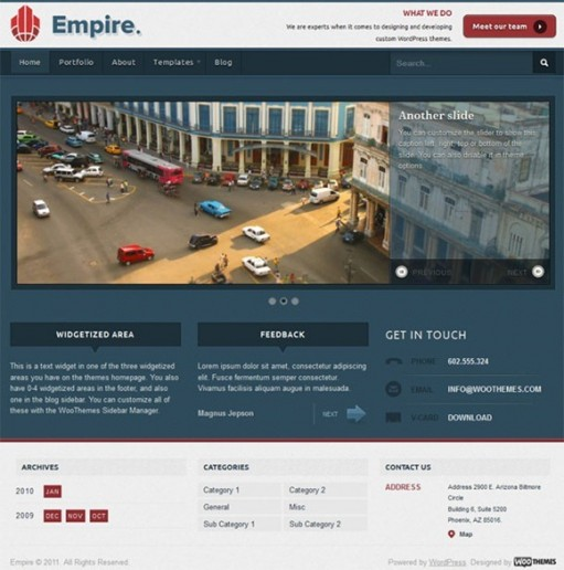 WooThemes Empire Business WordPress Theme