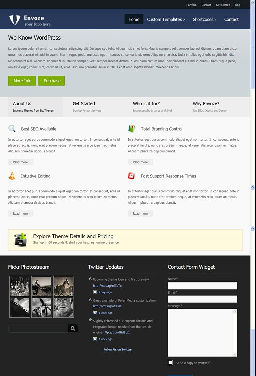 BizzThemes Envoze WordPress Theme