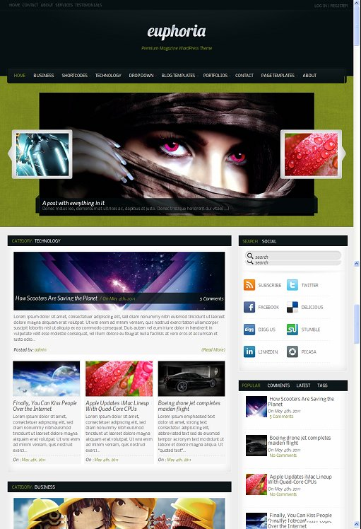 Rockable Euphoria WordPress Theme