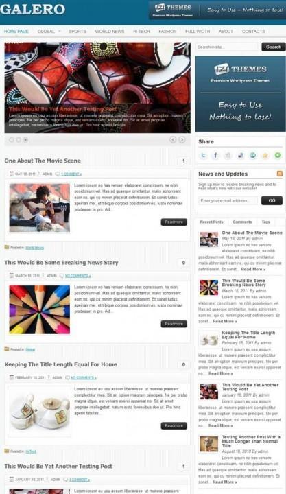 Izi Themes Galero WordPress Theme