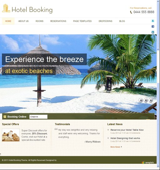 Templatic HotelBooking WordPress Hotel Booking Theme