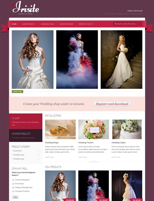 JoomlArt JM Irisite Magento Wedding Shop Theme