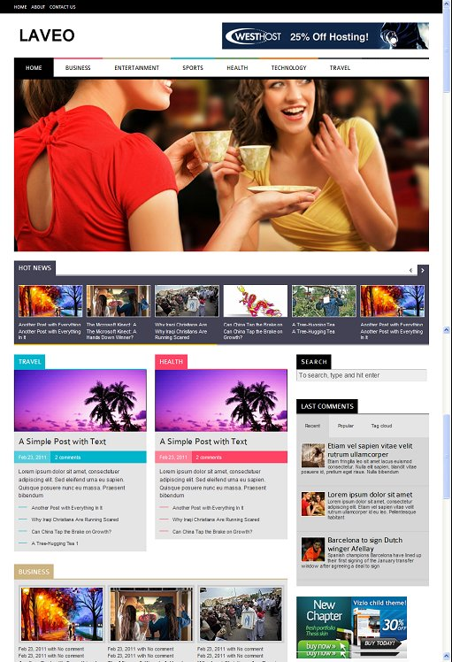 Templatica Laveo WordPress Theme