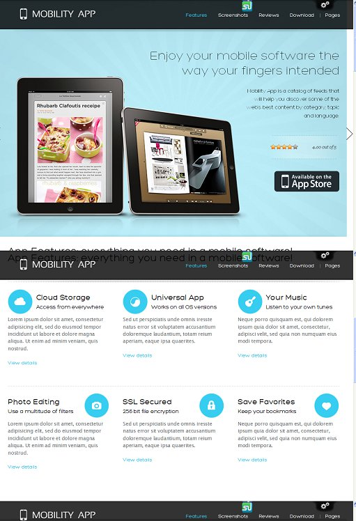 ThemeFuse MobilityApp WordPress Theme