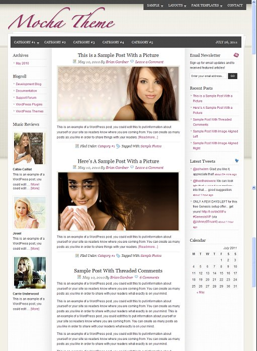 StudioPress Mocha WordPress Fashion Theme